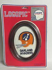 Vintage NOS Oakland Invaders USFL Logopic Wall or Table Framed Team Logo Sign
