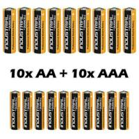 10 AA +10 AAA Duracell Industrial Alkaline Batteries LR6 MN1500 Procell 2024 exp