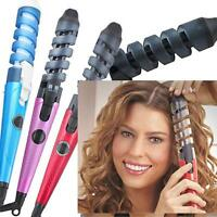 New Professional Hair Salon Spiral Ceramic Curling Iron Hair Curler Home Use