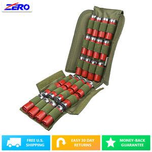 Green MOLLE PALS 25 Shotgun Shot Shells Carrier Pouch Foldable 12/20 Gauge