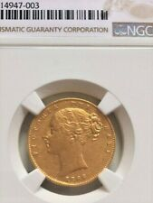 More details for 1866/ 5 gold victoria sovereign - very rare ex. charles wander & ngc top pop!