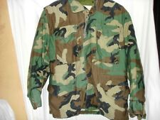 Army Medium Short / Coat Cold Weather,Field,Woodland Camouflage Pattern w/Liner
