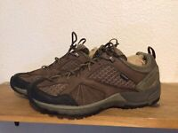 Men's Merrell Moab Adventure Lace Waterproof Size 9.5 Brown Black Hiking Shoes