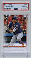 2019 Topps #475 PETE ALONSO RC PSA 10 New York Mets FREE SHIPPING-QTY AVAILABLE