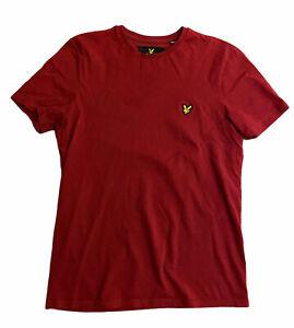 Lyle & Scott Men's T Shirt Red Small 100% Cotton Short Sleeve