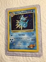 Misty's Seadra - 9/132 - Holo SWIRL - Gym Heroes - Pokemon Card NM
