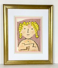"Paul Klee 1939 Original Antique Lithograph ""Child's Head"" FRAMED (Sale Price)"