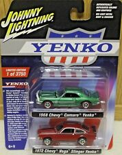 2018 JOHNNY LIGHTNING 2 Pack 1968 CHEVY CAMARO and 1972 CHEVY VEGA STINGER YENKO