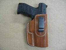 Walther Ppq 9mm / 40 Iwb Leather In The Waistband Concealed Carry Holster Tan Rh