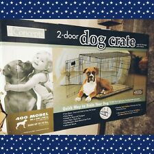 Pro Concepts 400 Model 2-Door Dog Crate 36L x 23W x 25H