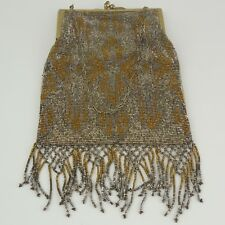 DECO French STEEL CUT Beaded Evening Bag, Hand Made — Chic. High Fashion 1920's