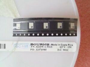 5 x Trimmwiderstand  - Bourns 3224W-1-502E - 5kOhm - 250mW - 10% -  NEU