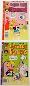 Richie Rich Diamonds #48 49 Harvey Comics Lot 1979 Higher Grade Newsstand