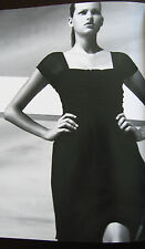 NEW NWT 2K CELINE PARIS Strapless OR Cap Sleeve Black Silk Cocktail Dress 40 6 8