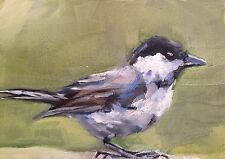 ACEO Original Oil Painting, Bird by Gary Bruton