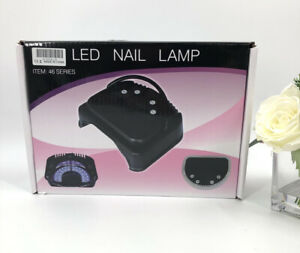 Anself LED Nail Lamp (Black) Safely Cures Gel Finger/Toe Nails Quickly & Evenly