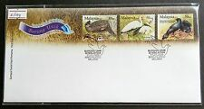2009 Malaysia Unique Birds 3v Stamps on FDC (Melaka Cancellation)