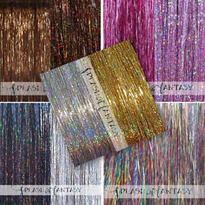 "NEW 40"" SPARKLING / SHINY Hair Tinsel 200 Strands - US Seller"