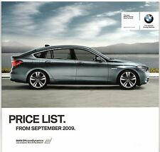 BMW 5-Series Gran Turismo GT 2009-10 UK Market Specification Brochure