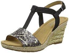 Gabor Shoes Comfort Sandali con Zeppa Donna Nero (koala/schw. Bast) (u3w)