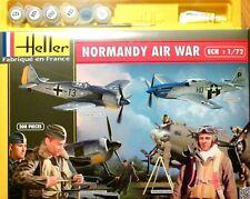 """Heller 1:72 """"Normandy Air War"""" Aircraft & Figures Gift Set Model Kit"""