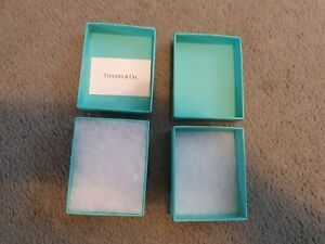 2 x Tiffany boxes with foam and Tiffany card insert. Good condition