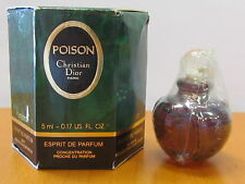 Poison By Christian Dior Perfume Women 0.17 oz Esprit De Parfum Splash NIB Mini