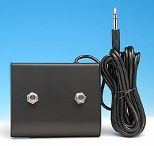"FOOTSWITCH FITS AMPEG 1/4"" TWO BUTTONS GUITAR & BASS AMPLIFIERS AMPS SVT &OTHERS"