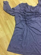 Ana A New Approach. Purple. 3/4 Sleeve Top Blouse Size Lg