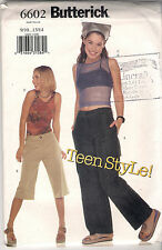 Butterick Sewing Pattern 6602, Tops, Shorts, Pants, Teen 9 - 14, Uncut