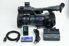 Sony PMW-EX1R XDCAM EX Full HD Camcorder NTSC/PAL HD-SDI 32GB SxS Cables Battery