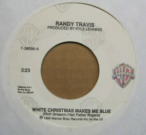 """RANDY TRAVIS """"White Christmas makes Me Blue"""" 1986 Warner Brothers Records 45"""