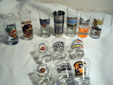 13 Collectors Harley Davidson Shot Glasses