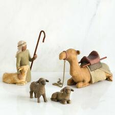 Willow Tree 4piece Set Figures Shepherd and Stable Animals Susan Lordi 26105 Ne