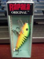 RAPALA, F05FT, The ORIGINAL FINNISH MINNOW, firetiger, FISHING LURE, F-5