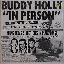 BUDDY HOLLY: In Person CRICKET Records SHRINK Rockabilly LP Super NM-