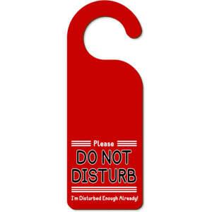 'Do Not Disturb' 200mm x 72mm Door Hanger (DH00000377)
