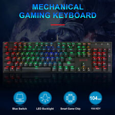 104 Keys Wired RGB Backlight Non-Slip Ergonomic Mechanical Gaming Keyboard