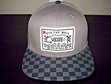 Vans Shoes Mens Bear Patch Checker Snapback Hat Cap Grey Adjustable Free Ship