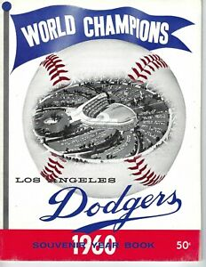 1960 Los Angeles Dodgers Baseball Yearbook magazine Don Drysdale Sandy Koufax GD