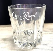 Crown Royal Canadian Whisky glasses Diamond Cut Embossed bottom 8 oz NEW