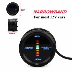 Narrowband Air Fuel Ratio Gauge Kit Universal 52mm Digital Pointer LED Backlight
