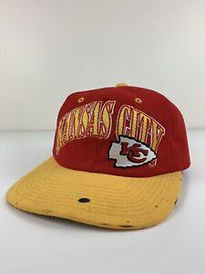 VTG Kansas City Chiefs Starter Red Yellow Snap Back Hat NFL Pro Line Cap Used