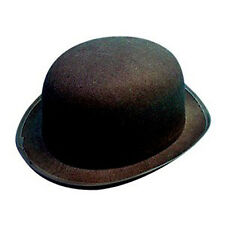 Bowler Hat Black Felt Ideal For Adult Parties And General Fancy Dress Black -NEW
