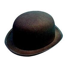 Chapeau melon feutre noir idéal pour adultes parties générales et robe fantaisie noir-neuf