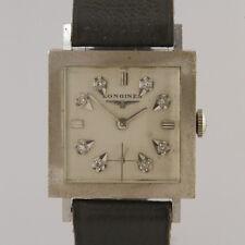 Vintage Longines Unisex Wristwatch 14ct White Gold
