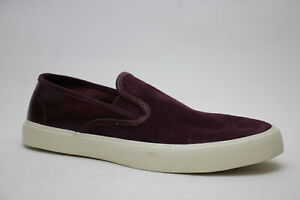 Sperry Captain's Leather Slip On Mens  Sneakers Shoes Casual   - Burgundy - Size