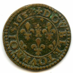 Ardennes Principauté de Sedan Frédéric-Maurice Double tournois 1632