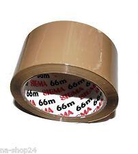 6 Rollen braunes Klebeband SIGMA Paketband Paketklebeband 66m x 50mm tape
