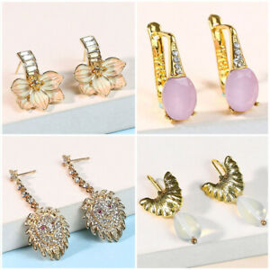 Fashion Hand-carved Flowers Earrings Wedding Bar Party Eardrop Jewelry A Pair